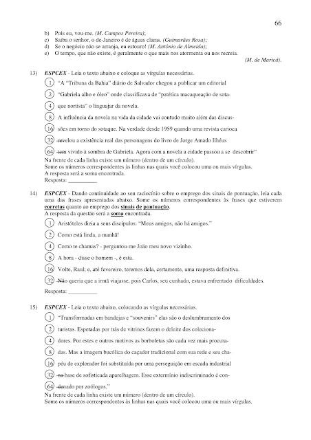 EXERCÍCIOS DE PORTUGUÊS PARA CONCURSOS COM GABARITO EM PDF