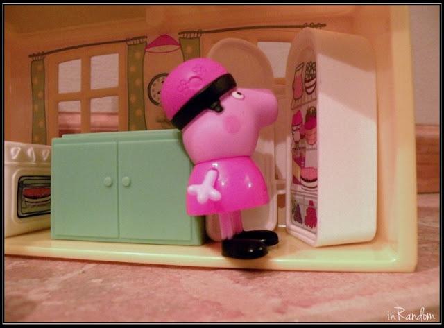 Peppa at the fridge