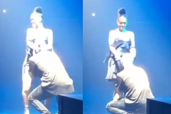 Dafuq is Drake and Rihanna doing on stage?