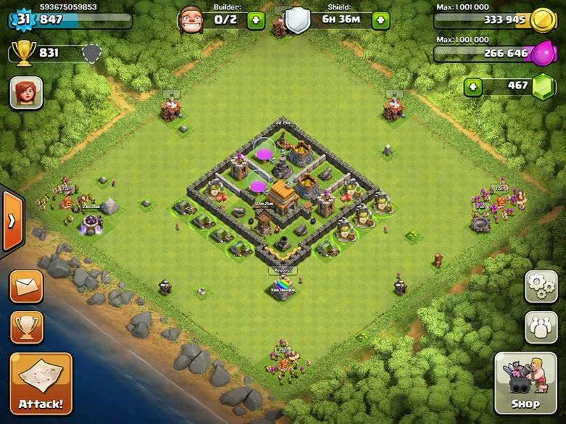 clash of clans 5 level town hall