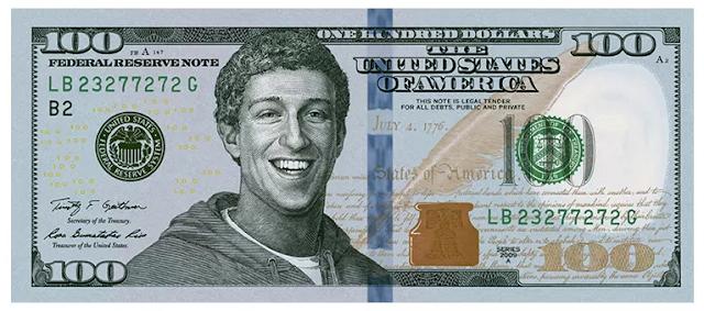Facebook CEO, Mark Zuckerberg Face On The $100 Bill
