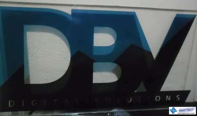Clear Acrylic Panel Sign with Sticker