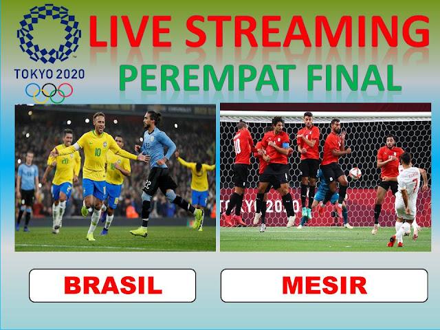 Ayo Nonton Live Streaming Olimpiade Perempat Final Sepakbola BRASIL VS MESIR Jam 17.00, ini LINKnya