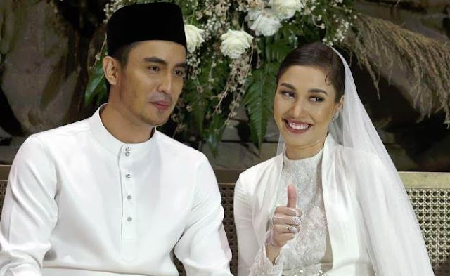 Gambar Pernikahan Zahirah Macwilson dan Aiman Hakim Ridza