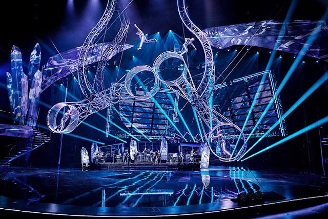 Efeitos audiovisuais do espetáculo VIVID Grand Show em Berlim