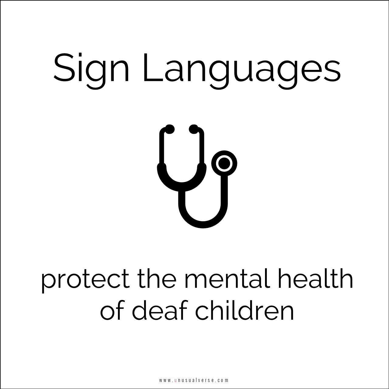 Sign Languages protect the mental health of deaf children