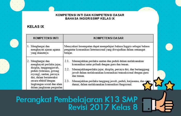Perangkat Pembelajaran K13 SMP Revisi 2017 Kelas 8