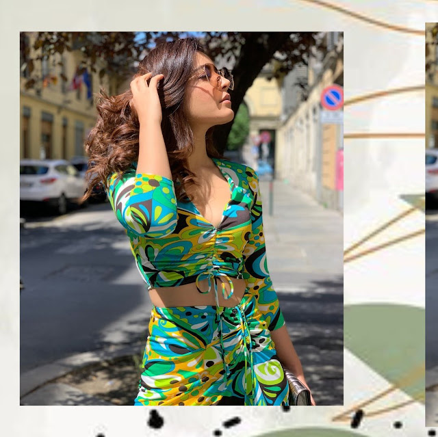 Raashi Khanna Latest HD Photos in Green Dress Actress Trend
