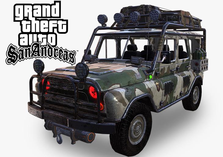PUBG UAZ For GTA San Andreas MOD Two Types UAZ Cars
