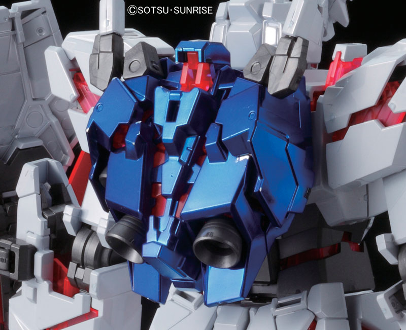 MG 1/100 RX-0 Unicorn Gundam [RE:0096 Red and Green Psycho Frame Titanium Finish Ver.] backpack