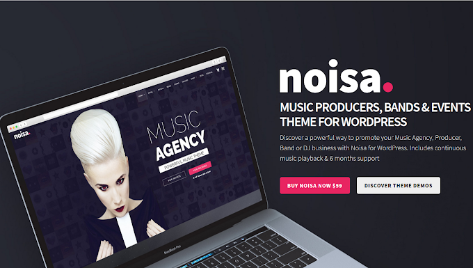 Noisa v2.5.6 - Music Producers, Bands & Events Theme for WordPress