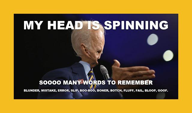Memes: Joe Biden MY HEAD IS SPINNING  SOOOO MANY WORDS TO REMEMBER
