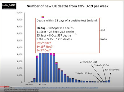 231020 losses of life by week UK with fortnightly doubling