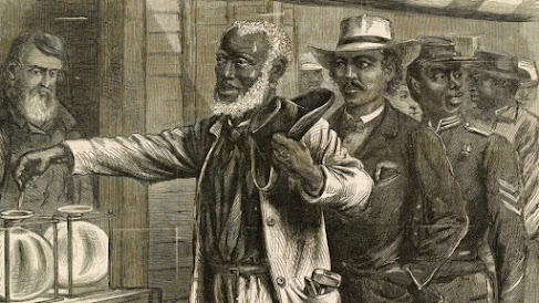 With the passage of the Fifteenth Amendment, droves of African American men went to the polls to exercise their newly recognized right to vote.