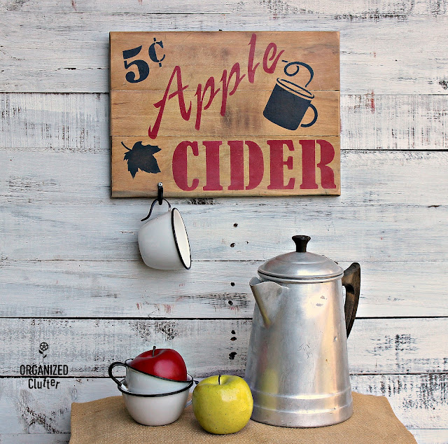Apple Cider Cutting Board Sign