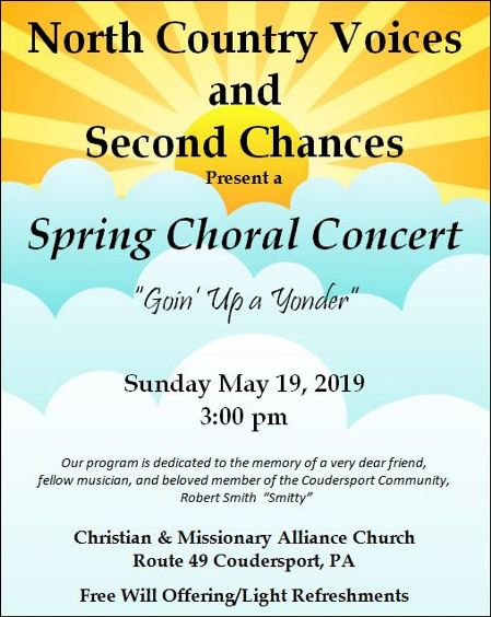 5-19 Spring Choral Concert, Coudersport CMA Church