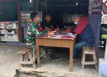 Edukasi Covid-19, Personel Jajaran Kodim 0207/Simalungun Himbau Warga Pakai Masker Saat Diluar Rumah