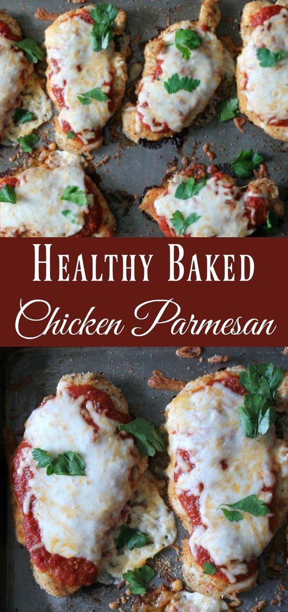 Baked Chicken Parmesan #recipes #healthychicken #chickenrecipes #healthychickenrecipes #food #foodporn #healthy #yummy #instafood #foodie #delicious #dinner #breakfast #dessert #lunch #vegan #cake #eatclean #homemade #diet #healthyfood #cleaneating #foodstagram