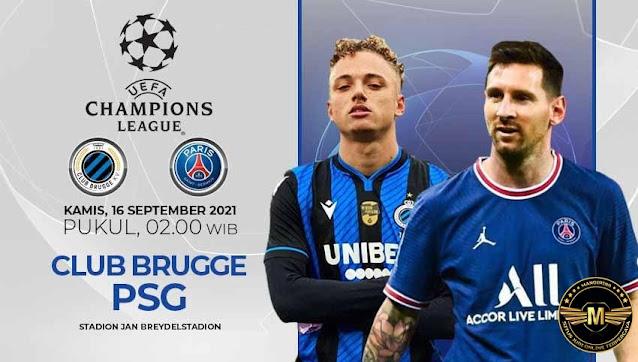 Prediksi Club Brugge Vs Paris Saint Germain