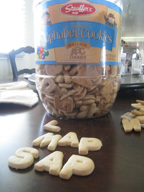 cookie alphabet spelling