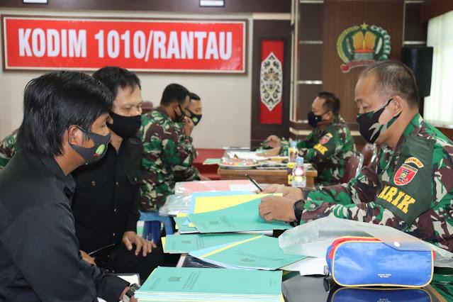Tim Wasrik Current Audit Inspektorat Kodam VI/ Mulawarman Kunjungi Kodim 1010/Rantau