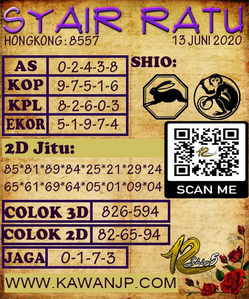 Prediksi Syair HK 13 Juni 2020