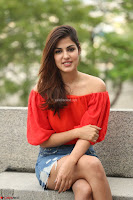 Rhea Chakraborty in Red Crop Top and Denim Shorts Spicy Pics ~  Exclusive 014.JPG