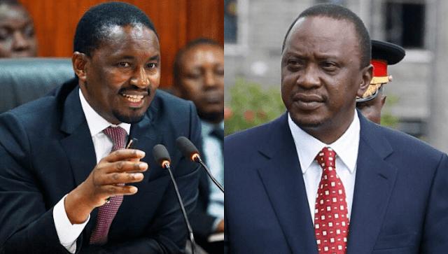 Ex-Agriculture CS Mwangi Kiunjuri and President Uhuru Kenyatta