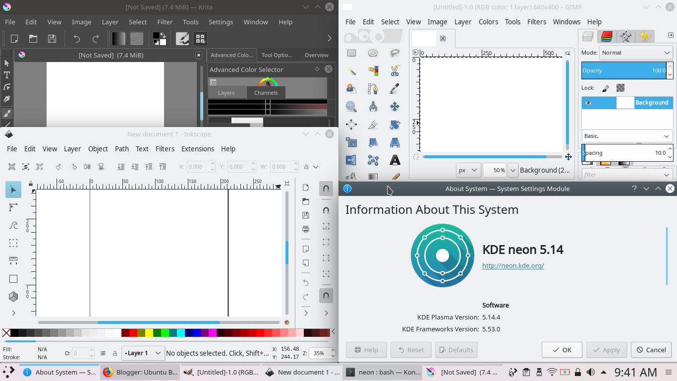 KDE neon for Graphic Designers