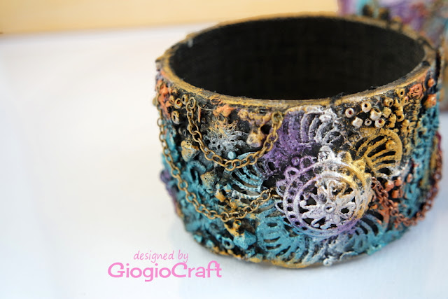 VideoTutorial : Mixedmedia cuff bracelet from upcycled tape roll
