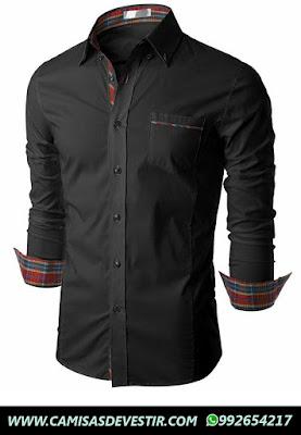 Camisa Negra Slim Fit Miraflores