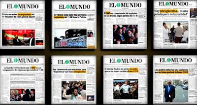 "Titulares de ""El Mundo"" sobre el 11-M"