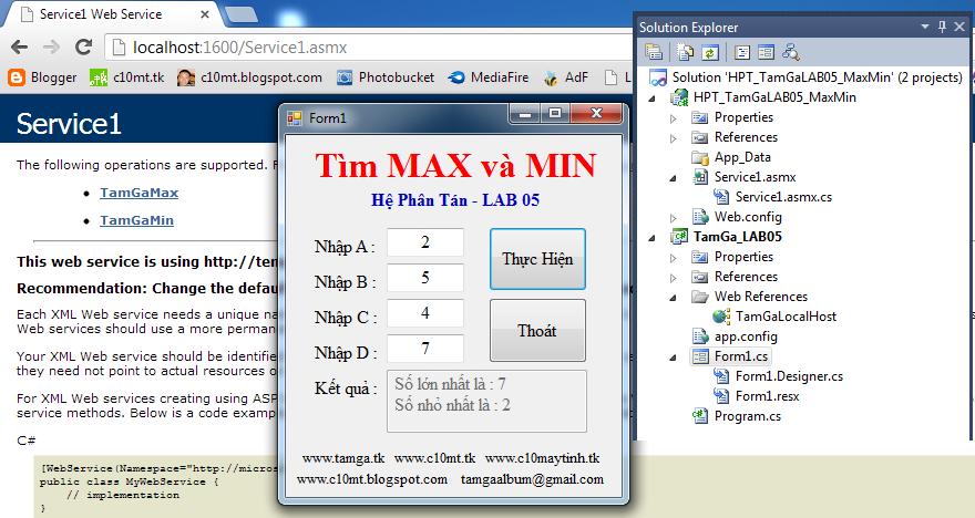 Hệ Phân Tán Tìm MAX và MIN