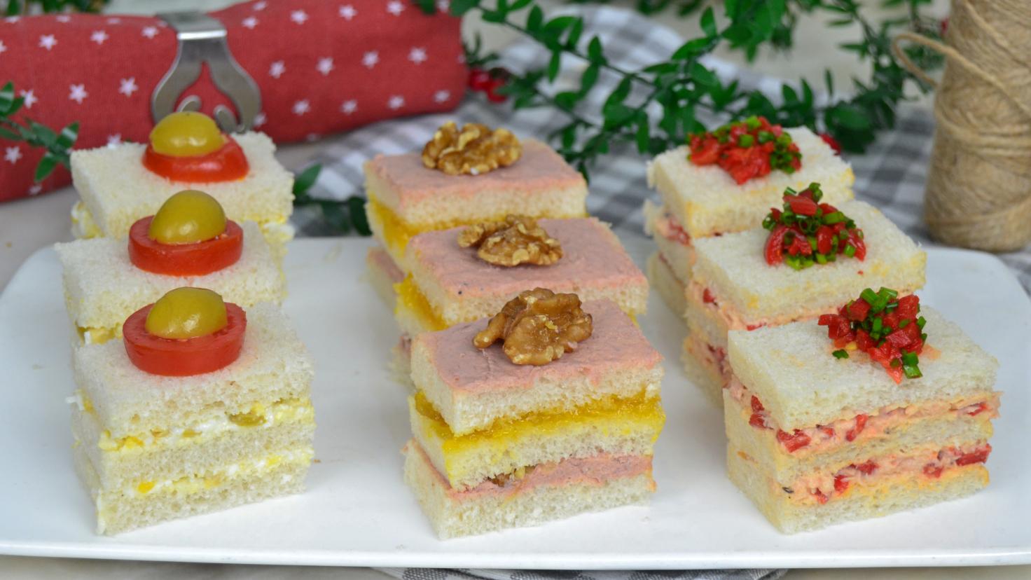 Canapés para Navidad con pan de molde. 3 ideas fáciles y deliciosas ...