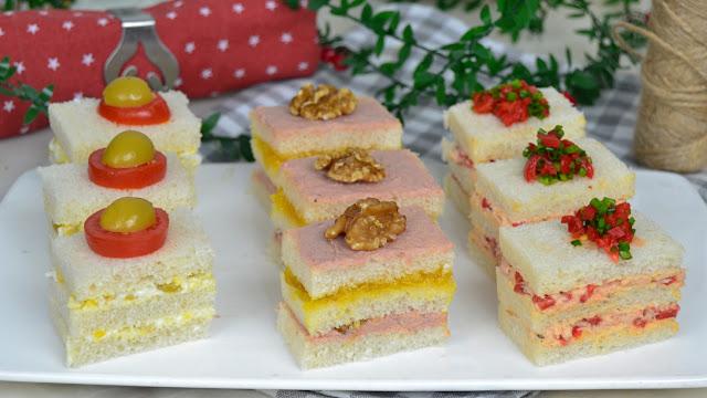 Canapés para Navidad con pan de molde. 3 ideas fáciles y deliciosas