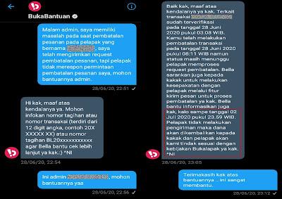 Melapor permaslahan melalui Twitter @BukaBantuan
