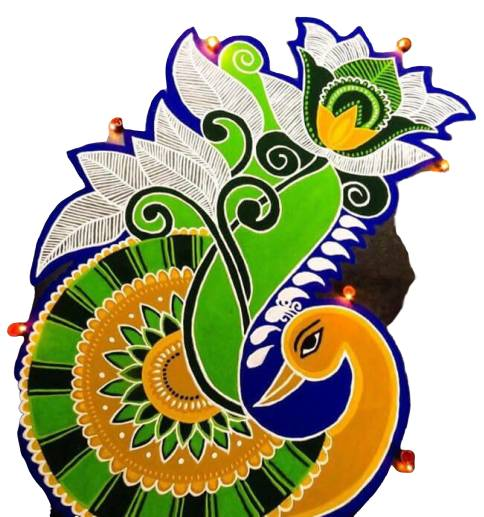 new rangoli designs of peacock