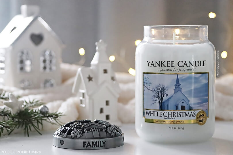 yankee candle white christmas blog recenzja