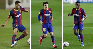 Barca field full La Masia midfield in Alaves win - 221 games after that happened last time in 2017