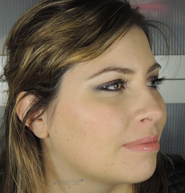 tutoriel mquillage burgundy gris