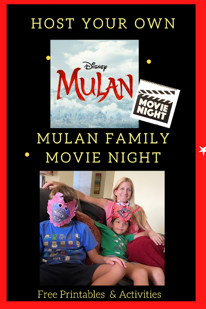 Host Your Own Mulan Family Movie Night - Free Printable & Activities