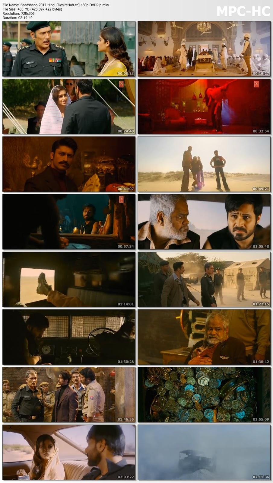 Baadshaho 2017 Hindi 480p DVDRip 400MB Desirehub