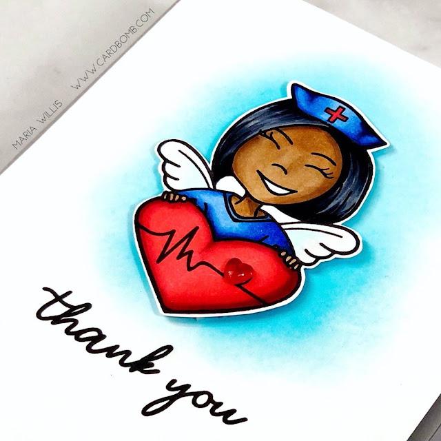 Maria Willis, Cardbomb, HAI Supply, Pear Blossom Press, light-up card, #video, #videotutorial, #cards, #stamp, #ink, #paper, #craft, #papercraft, #creative, #handmade, #handmadecards, #art, #diy, #copicmarkers, #copics, #honeybeestamps, Erin Lee Creative, interactive cards,