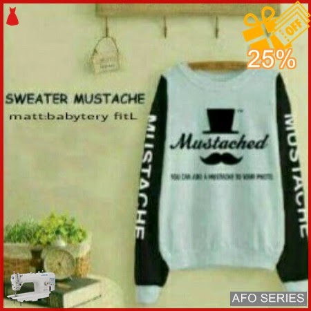 AFO369 Model Fashion Sweter Mustached Modis Murah BMGShop