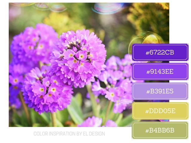 Σχεδιασμός blog με τα βασικά χρώματα : Μοβ