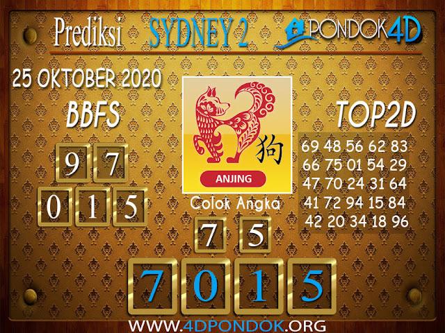 Prediksi Togel SYDNEY 2 PONDOK4D 25 OKTOBER 2020