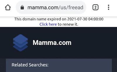 Mamma dot com has disappeared