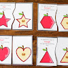 FREE Apple Shape Matching Cards