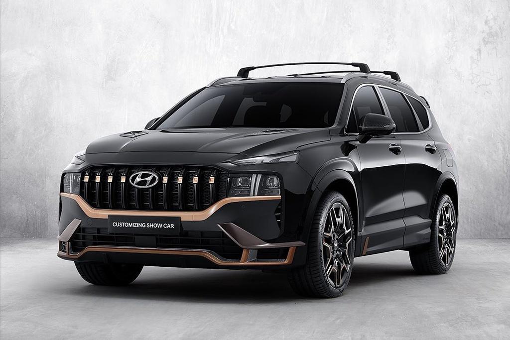 Hyundai Santa Fe 2021 hầm hố với gói nâng cấp N-Performance