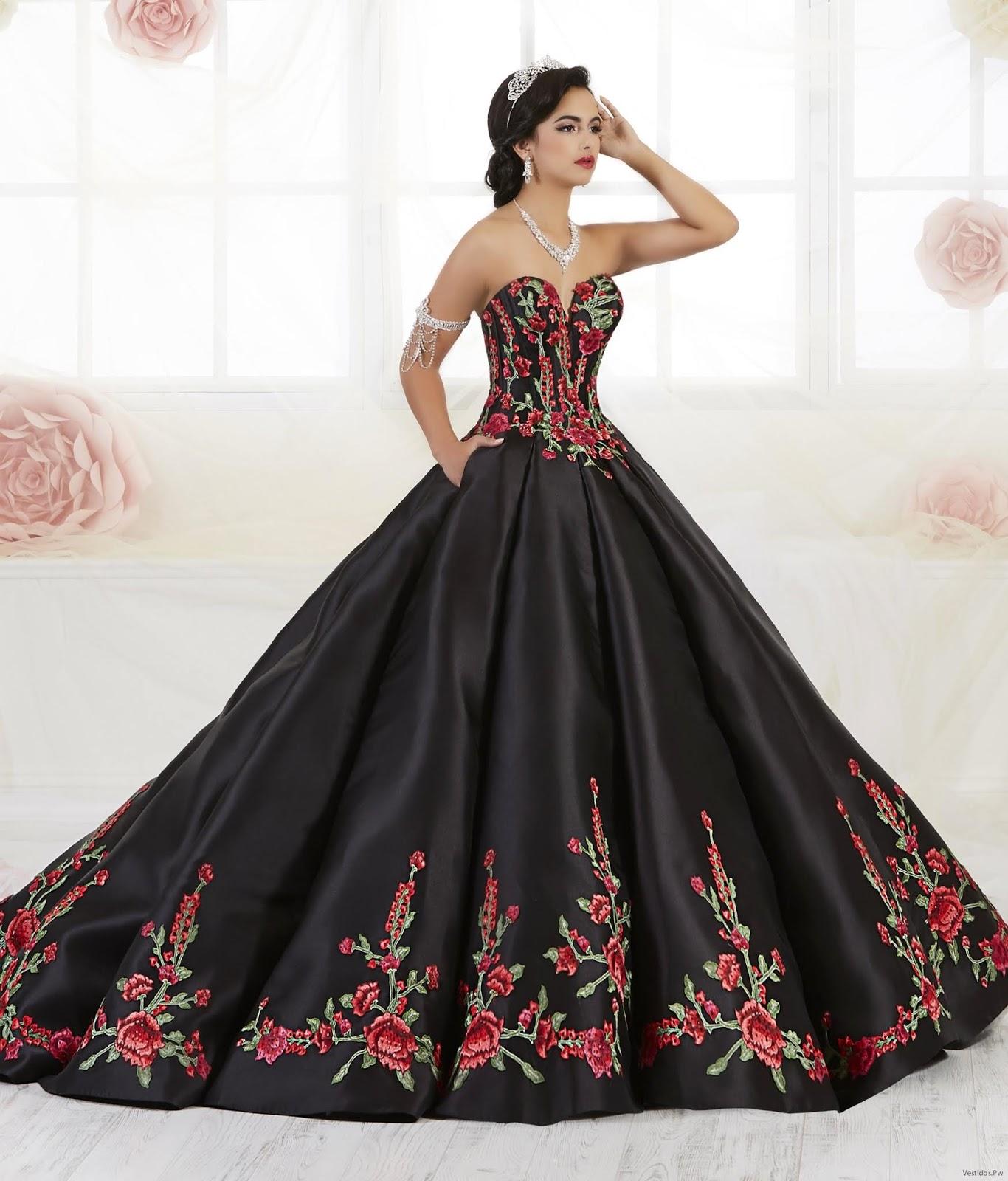 Vestidos De Xv Años Color Negro Para Fiesta 24 Ideas
